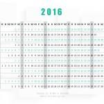 2016 - kártyanaptár, 2016 calendar, hátlap