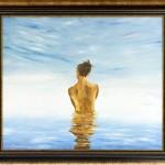 Égivíz | 50x60 cm | olaj, kasírozott vászon