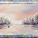 Nyugalom | 30x50 cm | olaj, farost