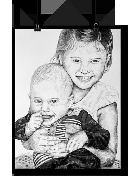 Gyermekrajz fotó alapján