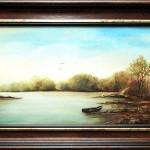 Parton | 25x70 cm | olaj, vászon
