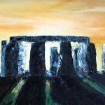 Stonehenge | 25x70 cm | olaj, vászon .