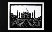 Taj-Mahal,-India-(linónyomat)-A3-as-lapon