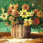 Virágcsokor | 30x40 cm | olaj, farost .